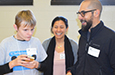 Parents join a student at Technology Olympics