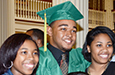 Raekwon Alston and his family celebrate after the 2106 graduation.