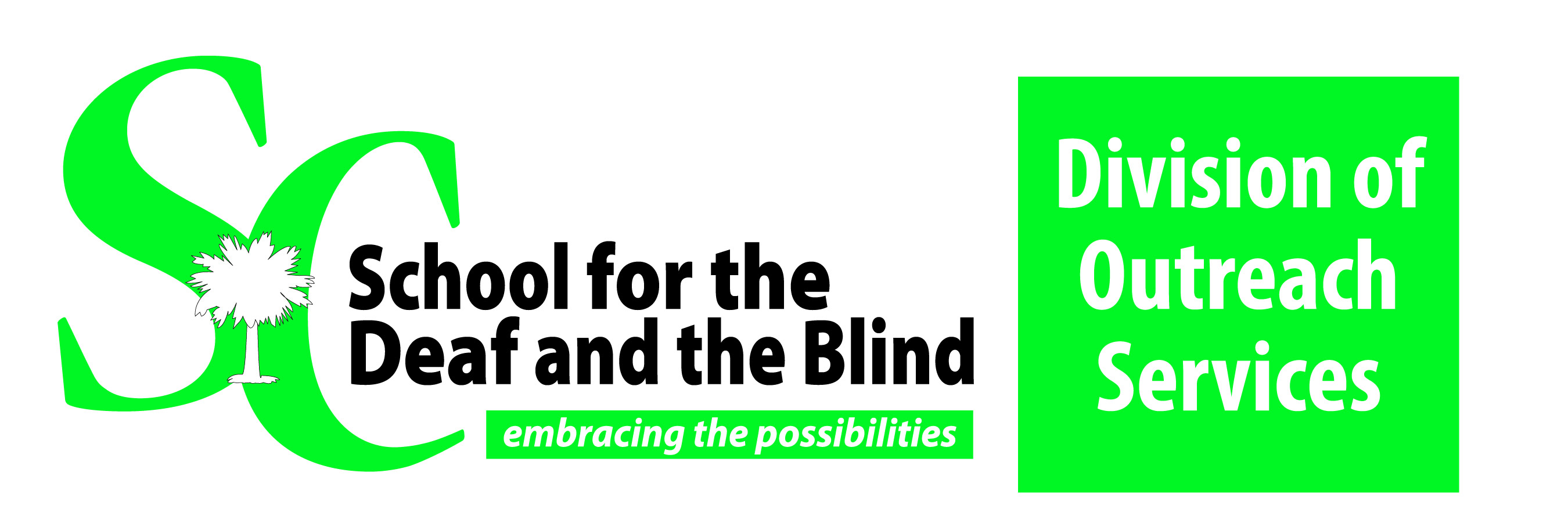 SC School for the Deaf and the Blind Division of Outreach Services Logo