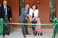 Dawn Norris and Scott Falcone cut the ribbon to open the new Colson Outreach Center in Charleston.