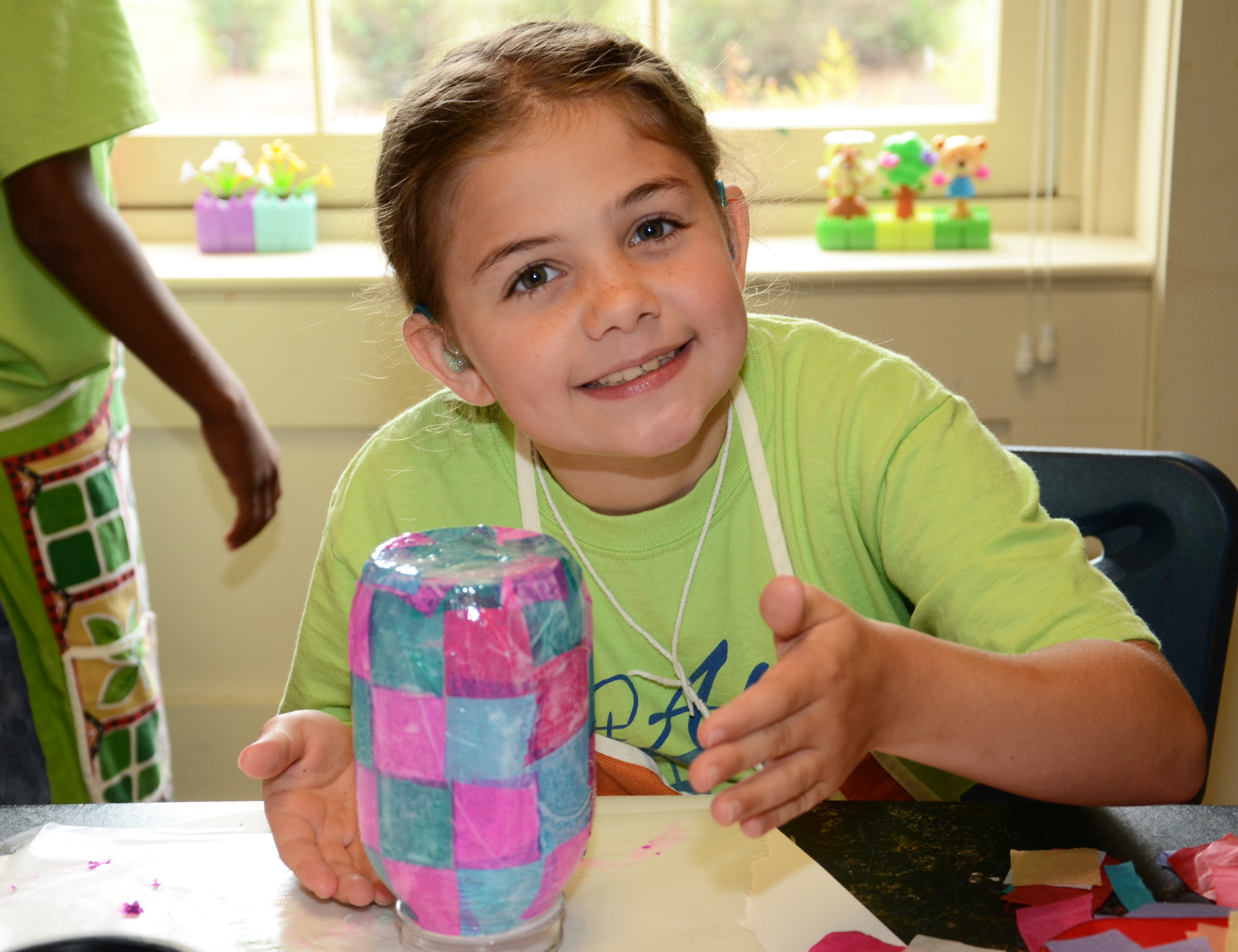 Campers made lanterns during art sessions.