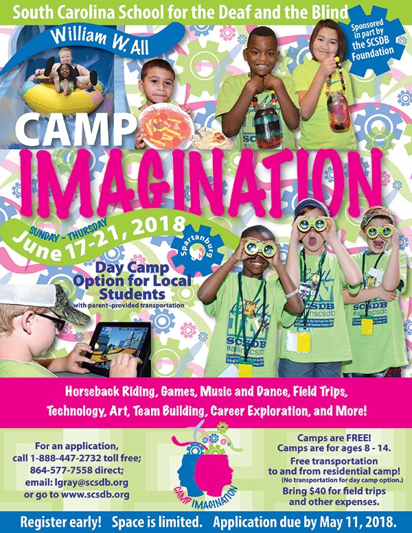 Summer Camps Flyer - Please scroll down for accessible version..