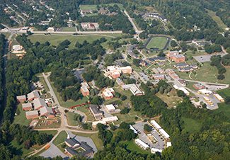 Aerial view of Spartanburg campus