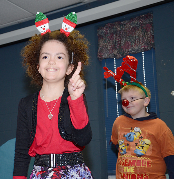 Holiday skits are one of many fun activities in the after-school program.