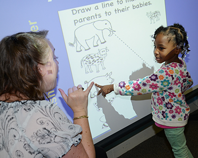 Smart boards help meet the needs of visual learners.