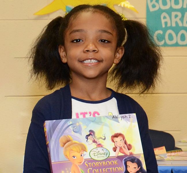 Aaliyah Zimmerman chooses the Disney Storybook Collection.
