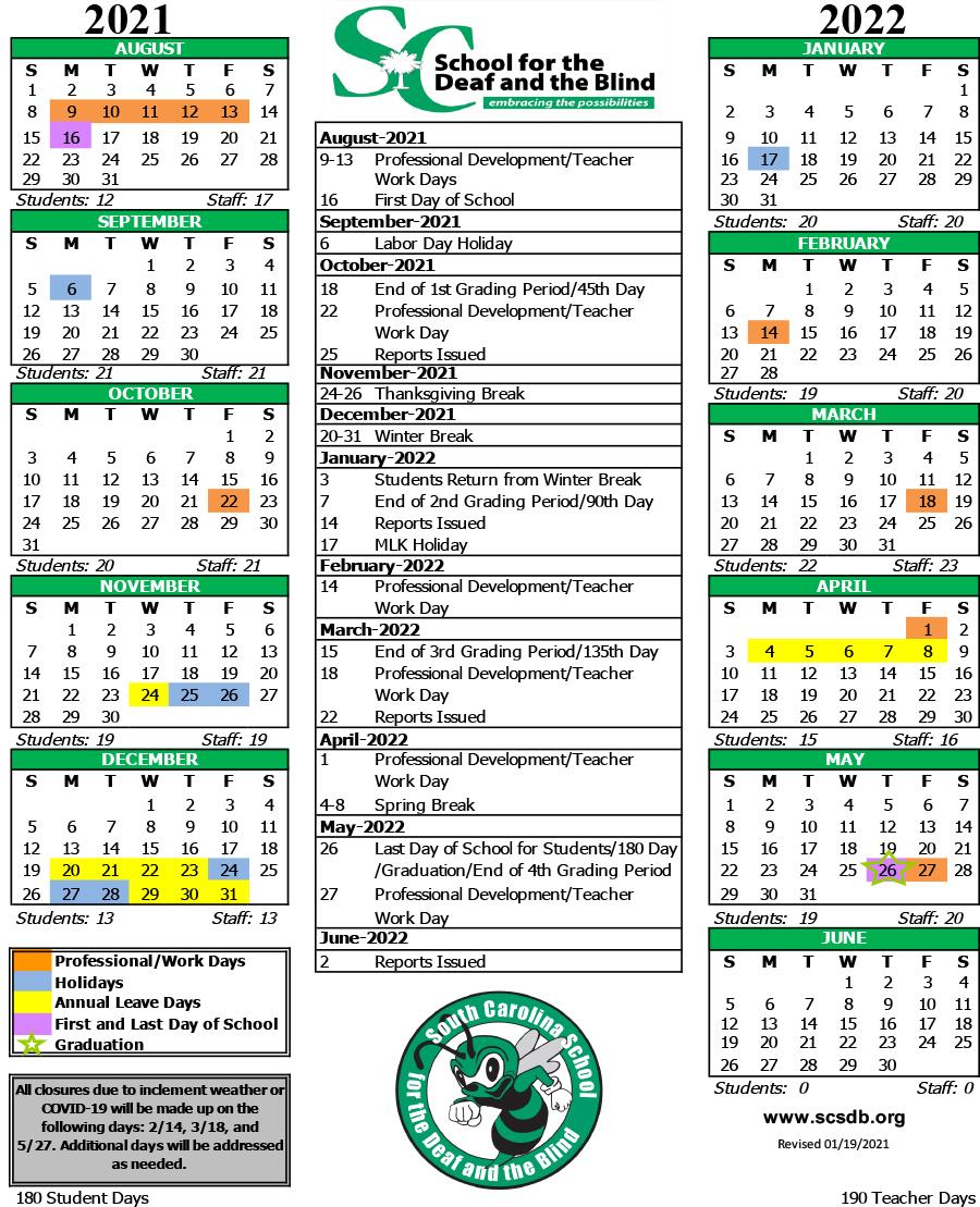 Cms Calendar 2022.Calendars Academic Calendar 2021 2022