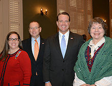 From left are parent Kay Melba, State Representative Eddie Tallon, State Representative Andy Patrick, and author Sheila Ingle