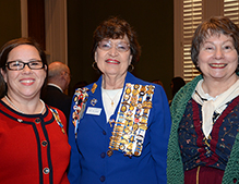 The Daughters of the American Revolution were pleased to have their state regeant attend.