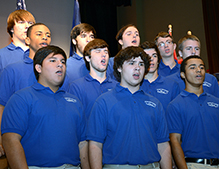 Byrnes students sang as SCSDB students signed.