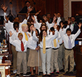 Students perform at the SC State House.