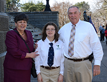 Dr. Page McCraw, Katie Roche, and Rep. Bill Chumley smiled for the camera.