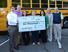 The Leadership Spartanburg Movies on the Go Team presented a check for $6,000 to the SC School for the Deaf and the Blind.