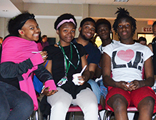 Students enjoyed the movie, ice cream, and lemonade.