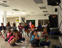 "Elementary students enjoyed the movie ""Penguins."""