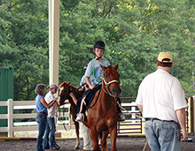 Horseback riding was one of many fun activities.