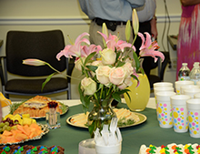 An open house and reception were held for guests to learn more about outreach services.