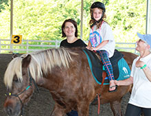 Campers enjoyed horseback riding.