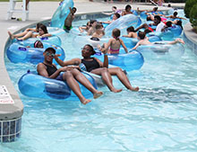 The lazy river offered a relaxing ride.