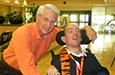 TV personality Jack Roper made a visit to Mary Black Hospital to present Scott Alexander's award.