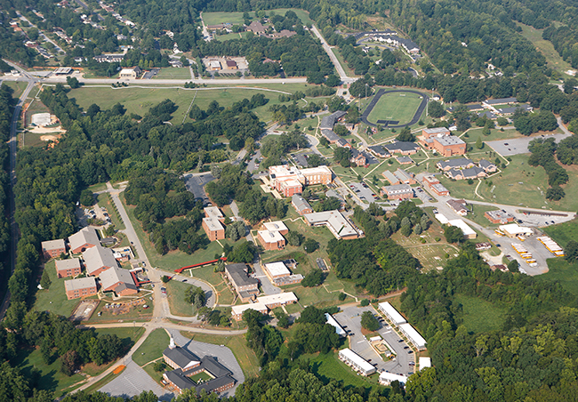 Aerial view of the Spartanburg campus